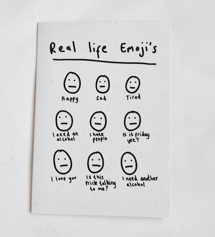 Real Life Emojis Card