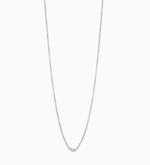 Diamond Chain Choker / Silver