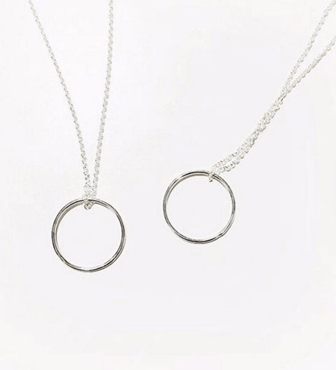 Circle Necklace / Silver