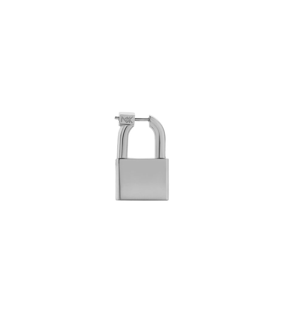 Large Lock Earring / Silver