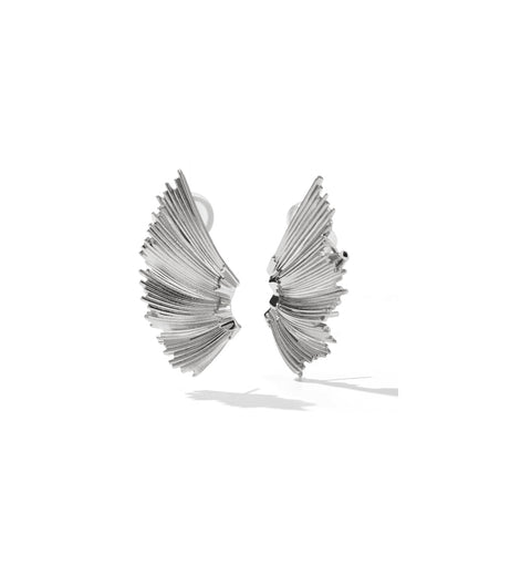 Eros Cuff Earrings / Silver