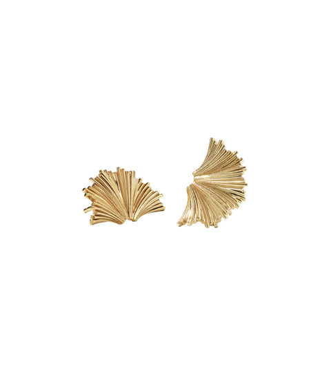 Vita Stud Earrings Medium / Gold