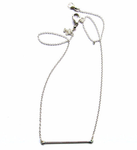 Tiny Bar Necklace / Silver