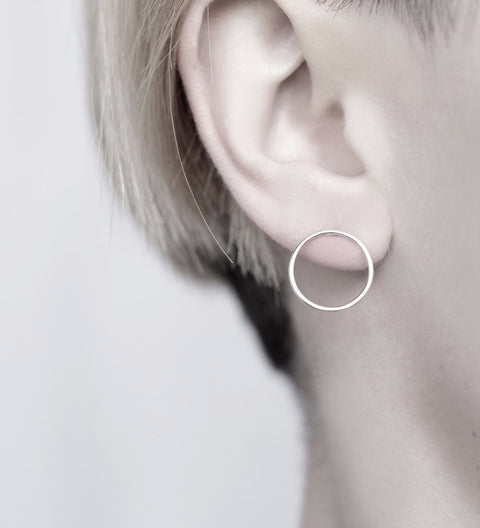 Circles Earrings / Silver
