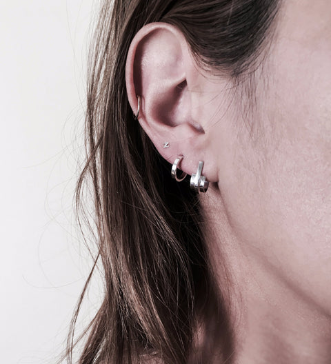 Band Earring / Silver