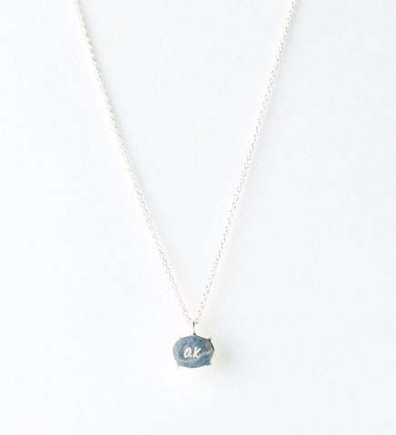 Moonstone Necklace / Silver