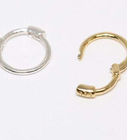 Tiny Cartilage Hoop Earring Thin / Gold