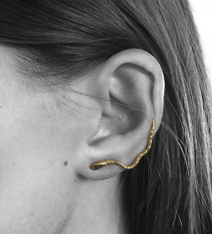 Serpent Ear Climber / Gold