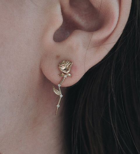 Celestial Rose Earring / Gold
