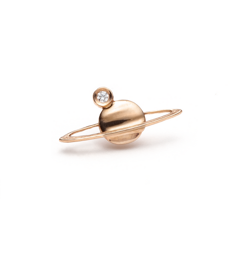 Diamond Mini Saturn Earring / Gold