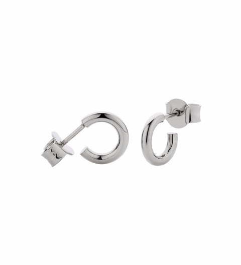 Taboo Hoop Earrings Small / Silver