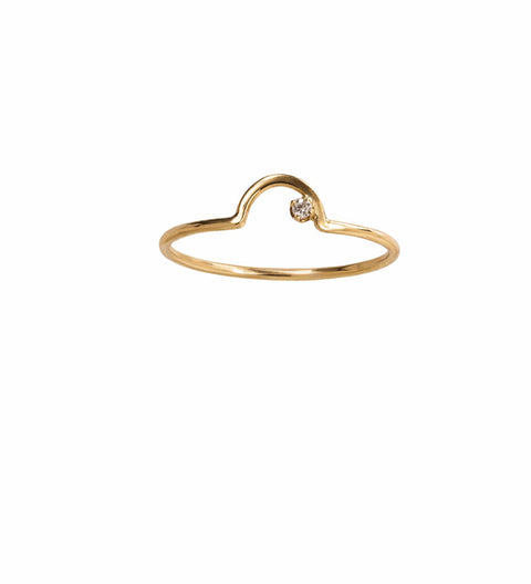 Arc Lineage Ring White Diamond / Gold