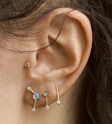 One-Step Bar Earring / Gold