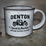 Denton Speed & Machine Vintage Motor Journal Campfire Mug