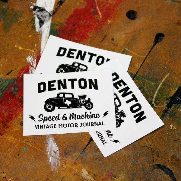 Sticker Denton Speed & Machine Vintage Motor Journal