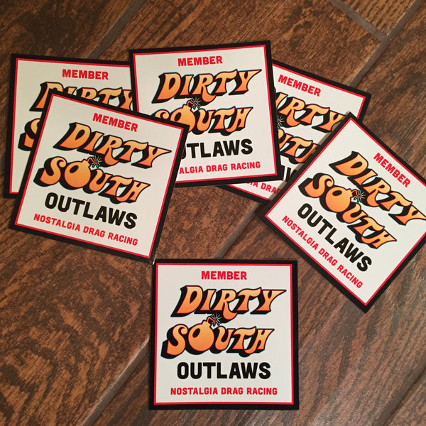 Dirty South Outlaws Sticker Set