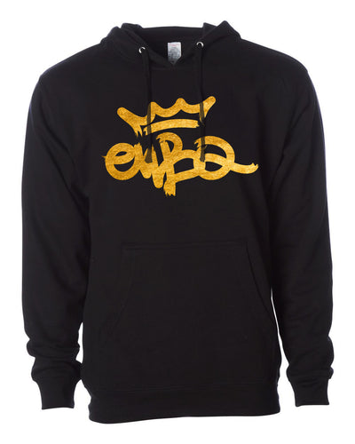 EWBQ Gold Broadstroke Black Hoody