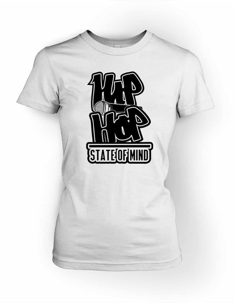 Hip Hop State of Mind Women's Crewneck T-Shirt