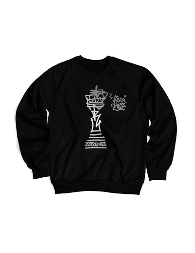 Think Chess King Piece Sweater Silver