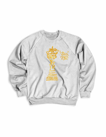 Think Chess King Piece Sweater Gold