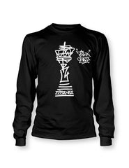 Think Chess King Piece LS T-Shirt