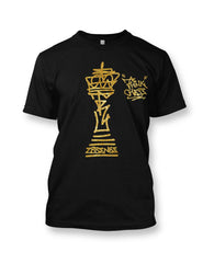 Think Chess King Piece Gold T-Shirt