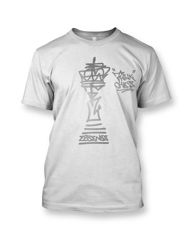 Think Chess King Piece Silver T-Shirt