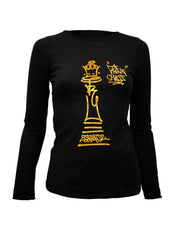Think Chess Queen Piece LS Tee Gold