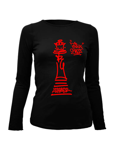 Think Chess Queen Piece LS Tee