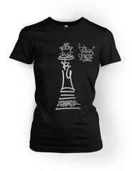 Think Chess Queen Piece Tee Silver