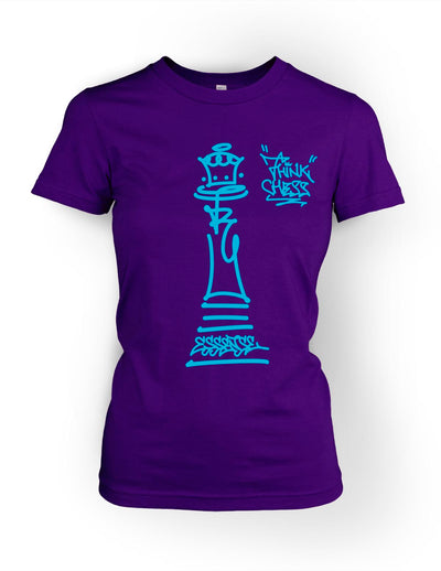 Think Chess Queen Piece Tee