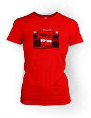 Hip Hop Boombox Vol.1 Womens Tee 2 Tone