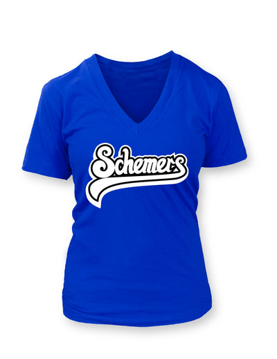 Schemers Royal Blue Women's Vneck T-shirt