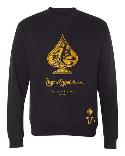 True Ace Black & Gold Crewneck Sweater
