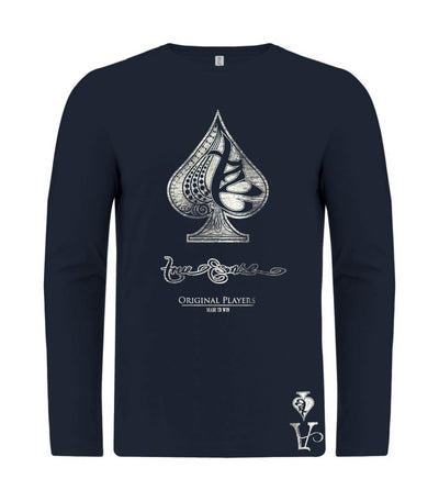 True Ace Navyblue & Silver Men's LS T-Shirt
