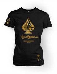 True Ace Black & Gold -Women's Crewneck Tee