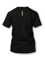 TE Banner Gold on Black T-shirt