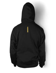 Golden Lionheart Black Zipper Hoody