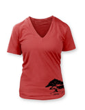 Bonsai Women's Red Vneck T-shirt