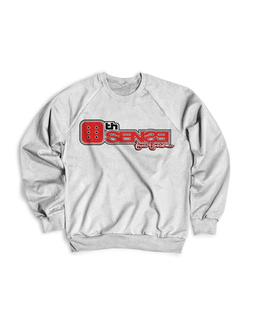 6th Sense White Crewneck Sweater