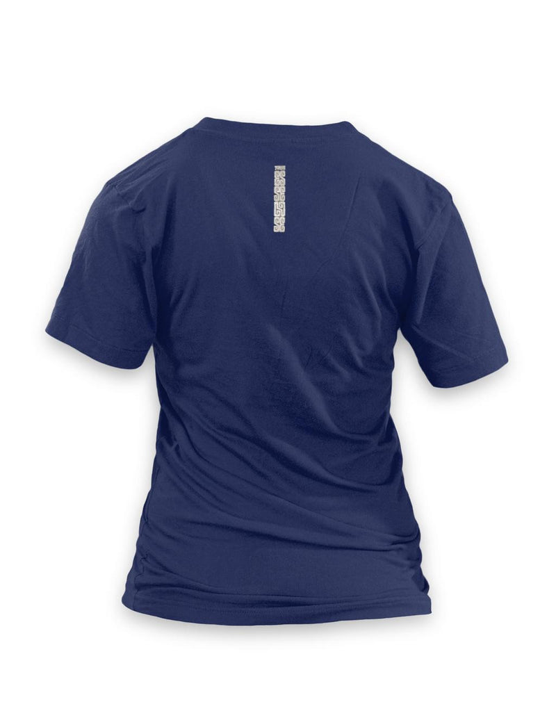 True Ace Navyblue & Silver Women's Vneck T-shirt