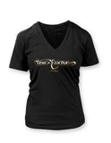TE Banner Women's Black Vneck T-shirt