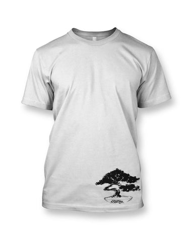 Bonsai Men's White Crewneck T-shirt