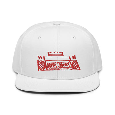 Hip Hop Boombox Snapback Red Stitch