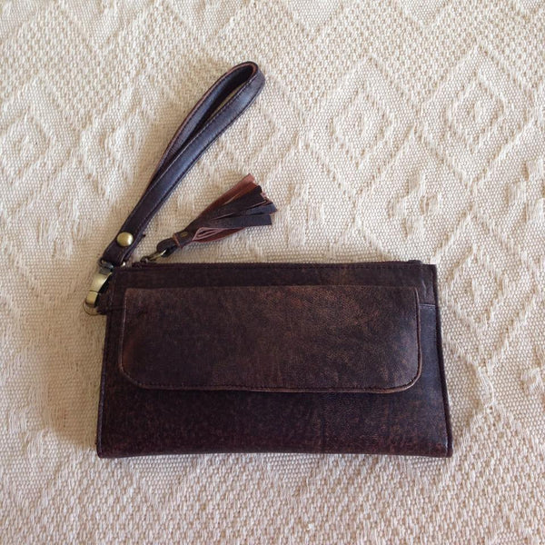 Leather Wallet- Vintage Brown