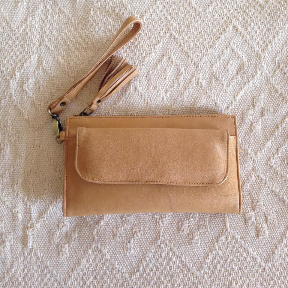 Leather Wallet- Tan