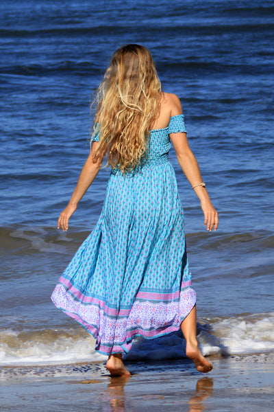 Gypsy Spirit Dress Aqua