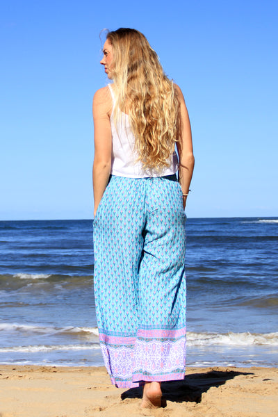 Gypsy Pocket Pants Aqua