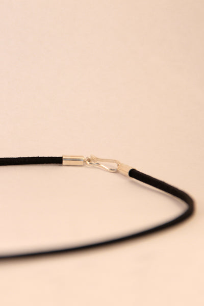 Suede Leather Necklace Black