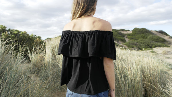 Free Spirit Top- Black
